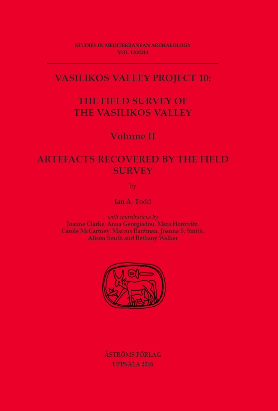 [The Field Survey of the Vasilikos Valley. Volume II.]
